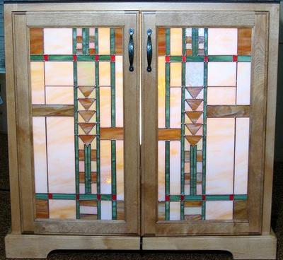 Custom stained glass doors windows panels studio one art glass custom cabinet door mission style 6533 6533 planetlyrics Gallery